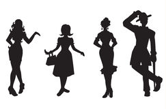 Unique Silhouettes Stock Photo