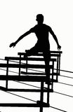 Silhouettes - 400 Hurdles stock image