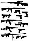 silhouettes оружие Стоковое Фото