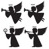 Silhouettes of angels Royalty Free Stock Photo