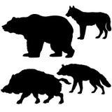 silhouettes animales Image libre de droits
