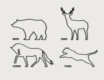 Silhouettes animales abstraites illustration libre de droits