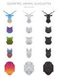 Silhouettes animales géométriques illustration stock