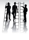 silhouettes arbetare Royaltyfri Bild