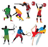 Silhouettes athlete Royalty Free Stock Photography