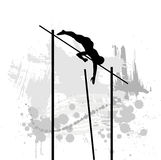 Silhouettes of athleter. Royalty Free Stock Photo