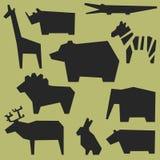 Silhouettes av djur Fotografering för Bildbyråer
