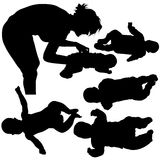 Silhouettes - Baby 1 Royalty Free Stock Images