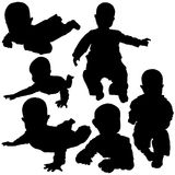 Silhouettes - Baby 2 Royalty Free Stock Photos