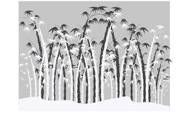 Silhouettes of bamboo Stock Photo