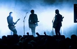 Silhouettes of band Stock Image