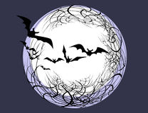 Silhouettes of bats Royalty Free Stock Photos