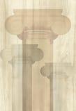 Silhouettes of big Greek columns. Silhouettes of big Greek columns on texture of a tree Stock Photos