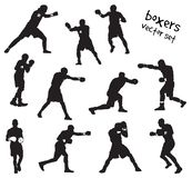 Silhouettes of boxers vector illustration
