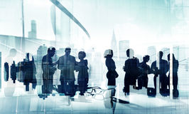Silhouettes of Business Brainstorming Groups Concept Stock Images
