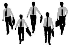 Silhouettes of Business men Royalty Free Stock Image