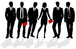 Silhouettes of business people Royalty Free Stock Photo