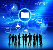 Silhouettes of Business People Data Concepts Stock Images