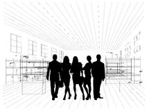 Silhouettes of business people Stock Image