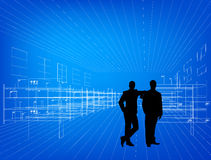 Silhouettes of business people Stock Images