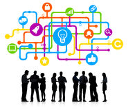 Silhouettes of Business People Idea Concepts royalty free stock images