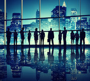 Silhouettes Of Business People in Office Building Stock Image