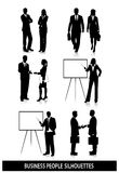 Silhouettes of business people on white background Stock Photography