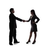 Silhouettes of Business team Royalty Free Stock Photo