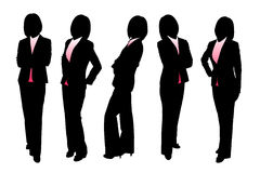 Silhouettes of Business woman. With white background Royalty Free Stock Photos