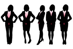 Silhouettes of Business woman. With white background Royalty Free Stock Photography