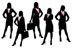 Silhouettes of Business woman Stock Image