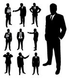 Silhouettes of businessman . Stock Photo