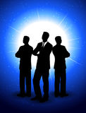 Silhouettes of businessmen  Stock Photography