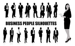 Silhouettes of businessmen Royalty Free Stock Photography
