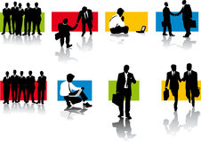Silhouettes of businessmen Stock Image