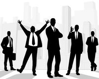 Silhouettes of businessmen Royalty Free Stock Image