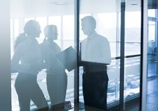 Silhouettes of businesspeople royalty free stock images