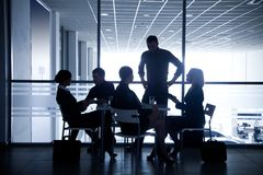 Silhouettes of businesspeople Royalty Free Stock Image
