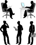 Silhouettes of businesswoman Royalty Free Stock Photos
