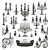 Silhouettes of candlesticks Royalty Free Stock Photography