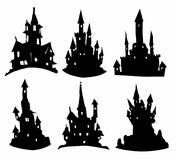 Silhouettes of castles Royalty Free Stock Photo