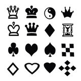 The silhouettes of the characters of Board games on a white background.  Royalty Free Stock Images