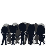 Silhouettes children Royalty Free Stock Images
