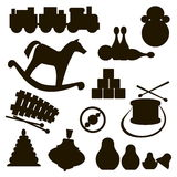 Silhouettes of children's toys Royalty Free Stock Photo