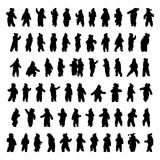 Silhouettes of children Royalty Free Stock Photography