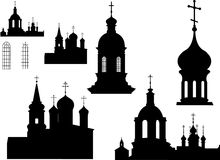 Silhouettes of Churches Royalty Free Stock Image