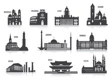Silhouettes of cities royalty free illustration
