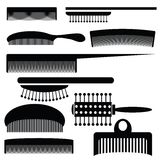Silhouettes of combs Royalty Free Stock Images