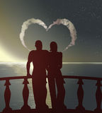 Silhouettes couple Royalty Free Stock Images