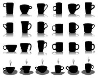 Silhouettes of cups Royalty Free Stock Photo